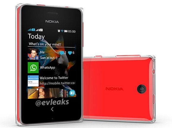 Nokia Nokia ASHA-500  Red colour